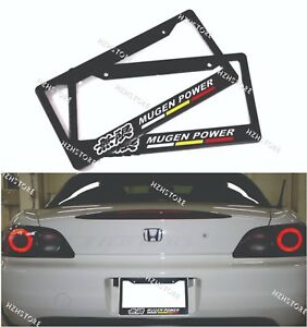 2pcs Mugen Power Racing License Plate Frame For Civic Accord Si Rsx Dc5 Dc2 Tsx