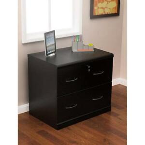 Z line Designs 2 drawer Lateral File Cabinet Black