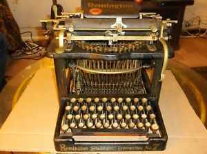 1898 1899 Year Remington Standard No 7 Typewriter Serial No 127531 Works