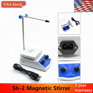 Sh 2 Magnetic Stirrer Hot Plate Dual Controls Heating 180w 110v Usa Stock
