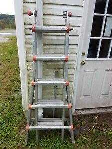 M22 1a Little Giant Classic 10103 Ladder 5 9 Step 11 19 Extension Excellent