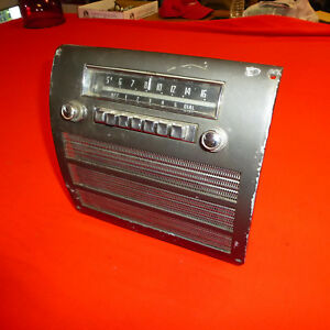 1950 1951 1952 Chrysler Fact Am Radio In Dash All Original Mopar