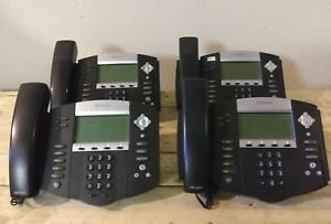 Lot Of 4 Polycom Soundpoint Ip 550 Sip Desktop Phones