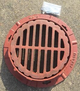 Wade 1200 12 12 Floor Drain Top Assembly Cast Iron Grate Collar Hardware