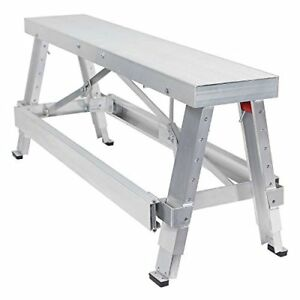 Gyptool Adjustable Height Drywall Taping Finishing Walk up Bench 18 In 30
