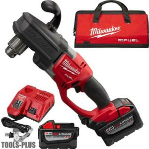 Milwaukee 2707 22hd M18 Fuel Hawg 1 2 Right Angle Drill 2 9 0ah Batts New