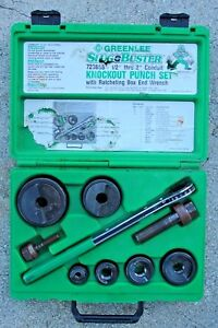 Greenlee 7238sb Slug Buster 1 2 Thru 2 Ratcheting Knockout Punch Kit