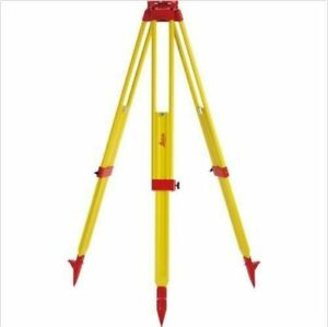 Leica Gst20 9 Wooden Tripod For Total Station Theodolite Level Laser