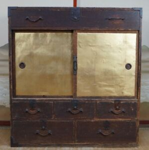 Japan Furniture Antique Tansu 1800s Interior Japanese Wood Cabinet