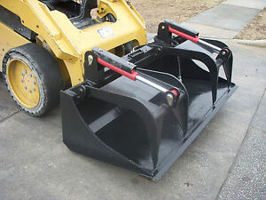Kubota Skid Steer Attachment 72 Heavy Duty Bucket Grapple Ship 199