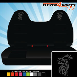 92 08 Ford F150 750 Black Front Bench Seat Covers T Deer Logo Chse Logo Color