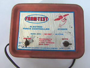 Vintage Stinger Farm test Electric Fence Controller Energizer Model 2078 Tested