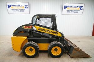 2011 New Holland L218 Wheeled Skid Steer Loader Open Rops 57 Hp
