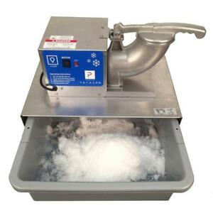 Portable Heavy Duty Snow Cone Maker Ice Crushing Machine Stainless Steel Blade