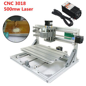 3 Axis Cnc 3018 Grbl Control 500mw Laser Diy Router Milling Engraving Machine