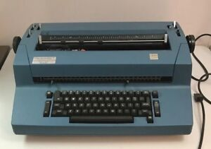 Vintage Ibm Selectric Ii 893 Correcting Typewriter Blue Tested Working Vtg Rare