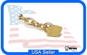 50 Bondable Orthodontic Gold Plated Traction Chain Rectangular Base A172b
