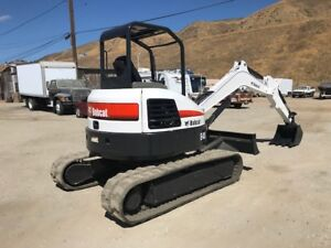 Bobcat E 45 Midi Excavator Very Clean California Rust Free Low Hours 2 Speed