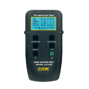 Aemc Ca7028 Wire Mapper Pro lan Cable Tester With Built in Tone Generator