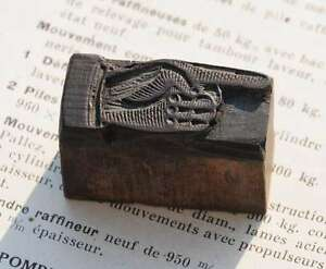 Pointing Hand Finger Letterpress Wooden Printing Block Wood Print Printer s Fist