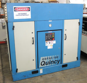 Quincy Qsf50 100 Air Compressor 50 Hp Motor Rotary Reciprocating