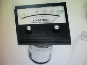 Airserco Analog High Vacuum Gauge 9044 sm 0 1000 Microns Removed Working