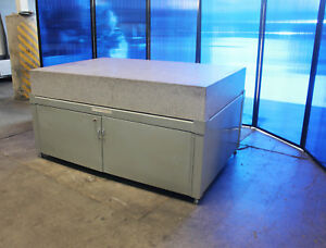 72 X 48 X 10 Grade A Standridge Granite Surface Plate With Cabinet Stand