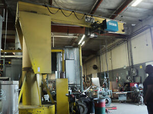 5 Ton Jib Crane Hoist Phoenix Shaw Box 180 Trolly Travel 206 Under Hook