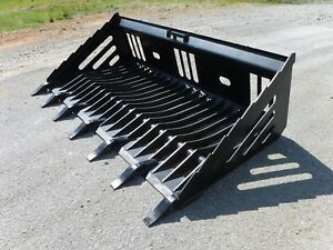 Bobcat Skid Steer Attachment 72 Rock Skeleton Bucket With Teeth Ship 149