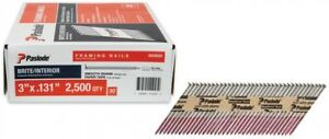 Paslode Framing Nails 3 In X 0 131 gauge 30 degree Collated 2500 Per Box