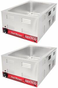 2 Pack Full Size 12 X 20 Electric Countertop Food Pan Warmer Commercial Chafer