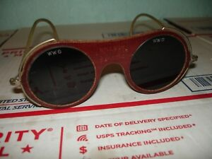 Vintage Willson Ww6 Welding Glasses Goggles Steampunk Cool Sunglasses