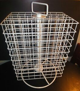 4 Sided 20x12 5x8 5 Wire Grid Panel Countertop Spinner Display White