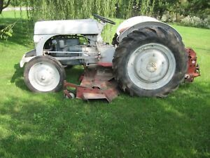1939 Ford 9 n Tractor Sherman Transmission Belly Mower Runs Strong New Tires