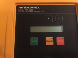 Physio control Lifepak 500 Biphasic Ecg Emt W Pads And Battery