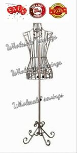 Display Clothing Metal Dress Mannequin Female Wire Decorative Stand Pink 8 Pound