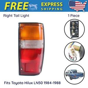 Tail Lights W Bulb Right Fits Toyota Hilux Ln50 Compact Pickup Truck 1984 1988