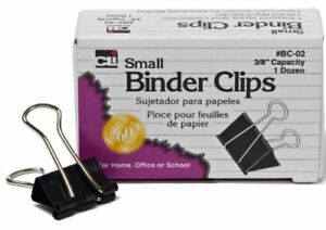 Charles Leonard Binder Clips Small 3 8 Inch 12 Packs Of 12 Clips small