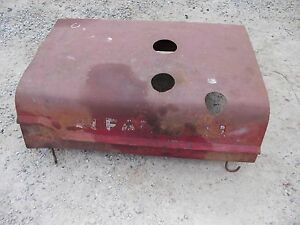Farmall C Tractor Original Ih Ihc Engine 3 Hole Hood Cover With Mounting Clips
