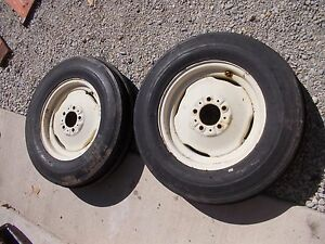Allis Chalmers D14 Tractor Ac Rims 6 00 X 16 6ply Super High Rib Front Tires