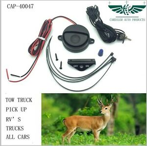 Set Of 2 12v 24velectronic Deer Animal Alert Whistle System For Uni Automotive
