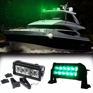 7 Super Bright Green Led Epistar 36w Boat Yacht Marine Fog Light Bar Roof Top