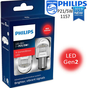 Philips P21 5w Led X tremeultinon Red Brake And Tail Signaling Light 2 Pin 1157