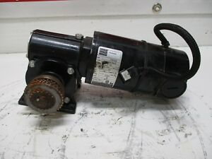 Bodine Electric 33a5bepm 5f Gearmotor 1 8hp Rpm 62 Used