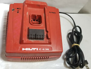 Hilti C4 36 Li ion Cpc Battery Charger For Cordless Tools Qwik Ship