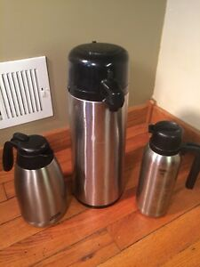 Commercial Coffee creamer Dispenser Lot Stainless Steel Nissan Thermos