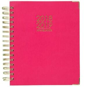 At a glance 2018 2019 Academic Year Daily Monthly Planner Large 8 7 8 X