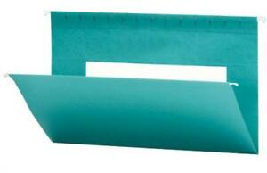 Smead Hanging File Folder With Interior Pocket Legal Size Teal 25 Per Box
