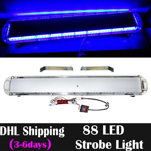 47 88 Led Strobe Light Bar Car Emergency Warning Tow Roof Vehicle Atv Lamps