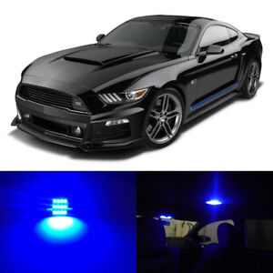 8 X Blue Led Interior Bulbs Lights Package For 2015 2016 2017 2018 Ford Mustang